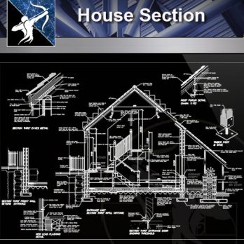 【Architecture CAD Details Collections】Wall CAD Details-House Section CAD Drawings